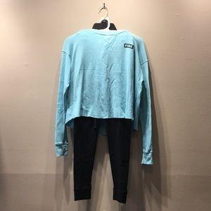 PINK Long sleeve shirt and jogger/legging set